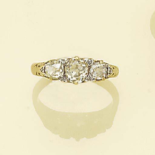 A Victorian, diamond three sto