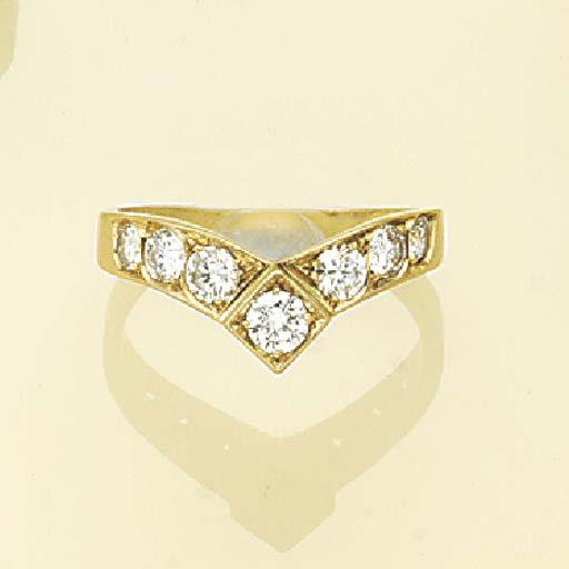 A diamond seven stone ring