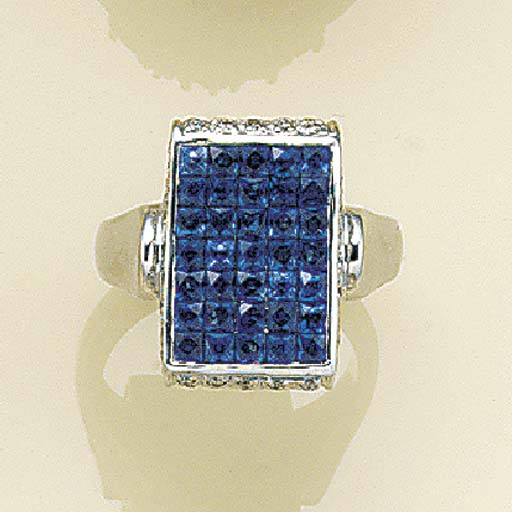 A sapphire cocktail ring