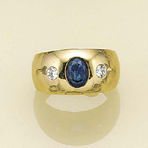 A sapphire and diamond gypsy r