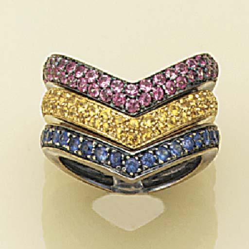 A gem ring set