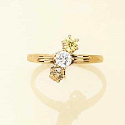 A diamond and untested coloure