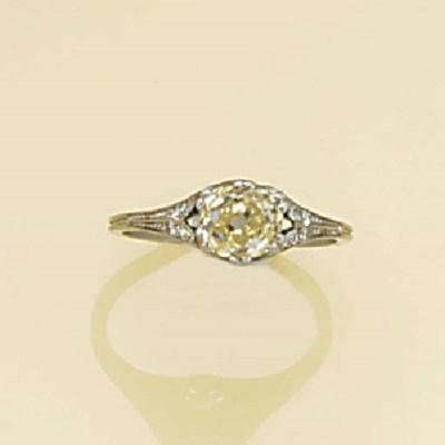 An early 20th century, diamond