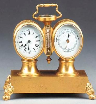 A French gilt-brass compendium
