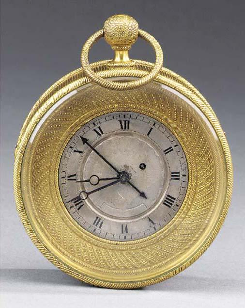 A French ormolu Sedan clock wi