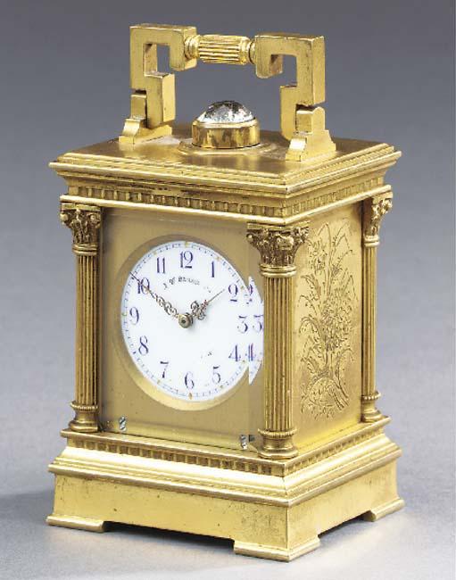 A Swiss gilt-brass minute-repe
