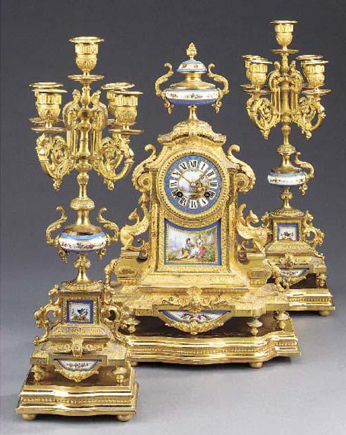 A French gilt-spelter striking