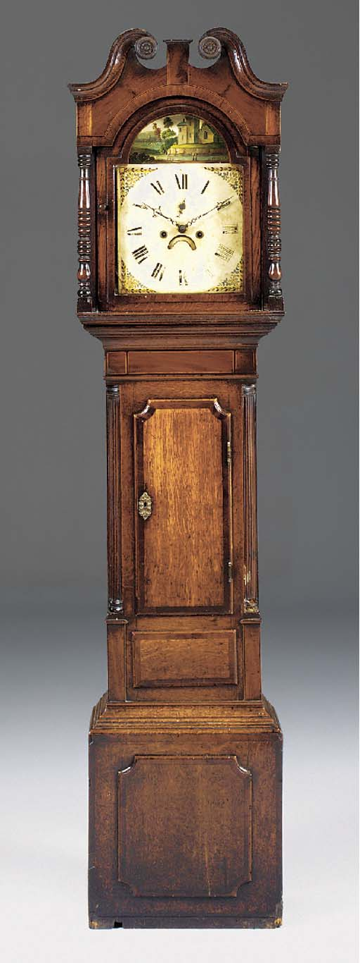 A William IV oak, mahogany and