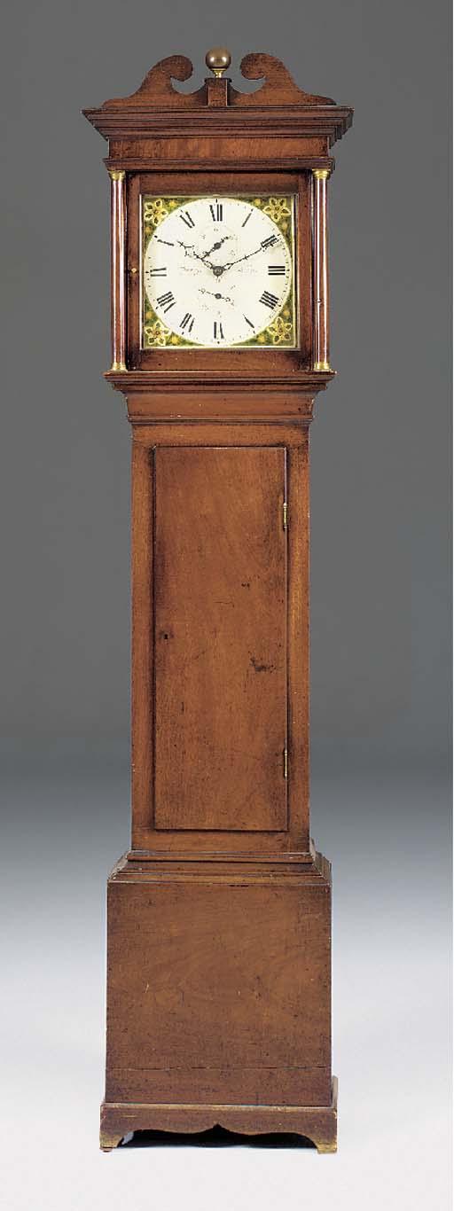 A George III 30-hour mahogany