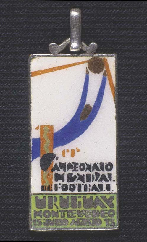 A white-metal and enamel medal