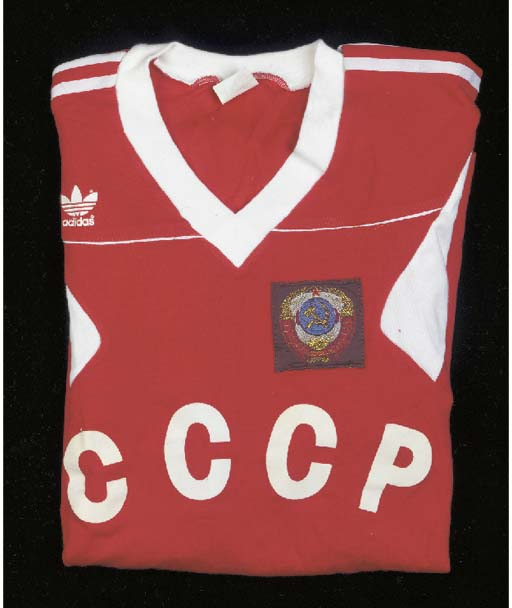 A red and white USSR Internati