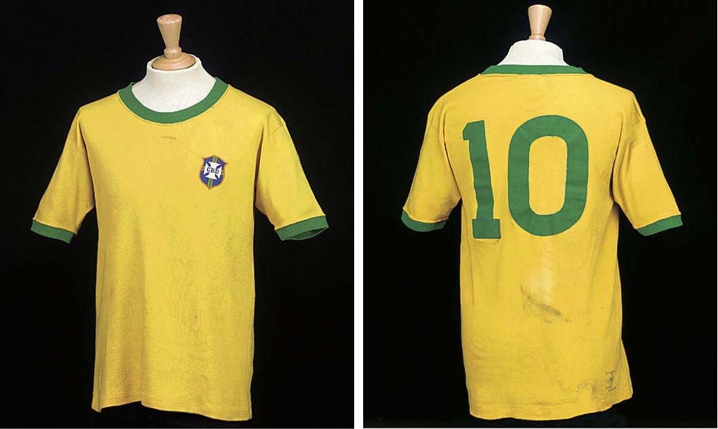 A yellow Brazil 1970 World Cup
