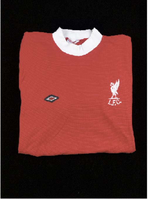 A red and white Liverpool shor