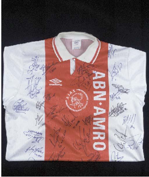 A red and white Ajax shirt, No