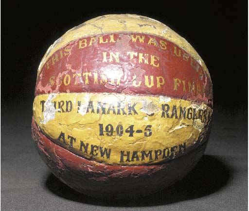 A leather football, the panels