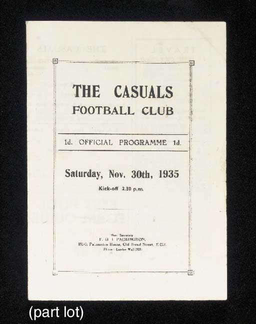 The Casuals F.C.: eleven home