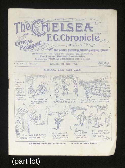 Nine Chelsea home match progra