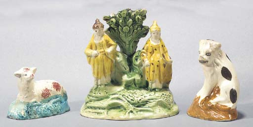 A pearlware group