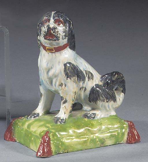 A pearlware model of a hound