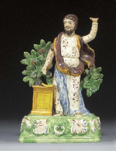 A pearlware figure of Jeramiah