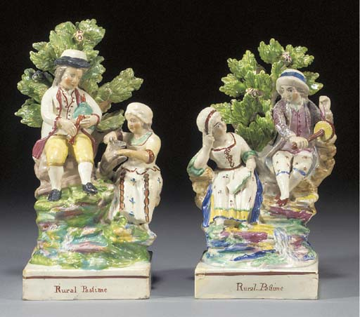 A pearlware group of 'Rural Pa