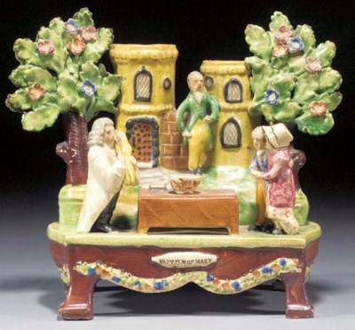 A pearlware 'Baptism of Mary'