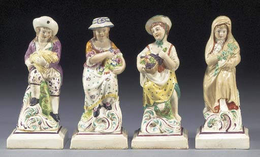 Four pearlware figures of chil