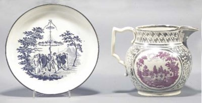 A pearlware plate