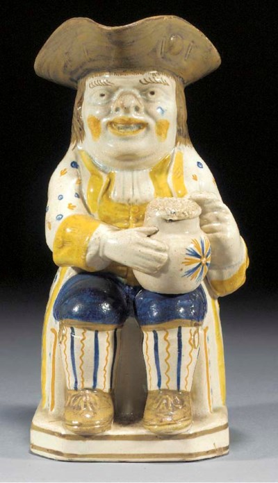 A Yorkshire pearlware toby jug
