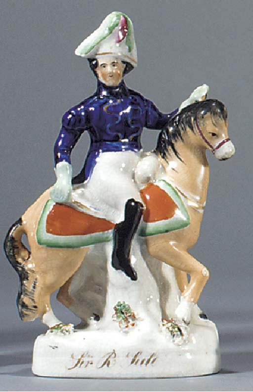 An equestrian figure of Sir Ro