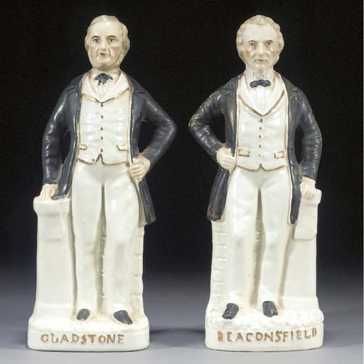 A pair of figures of William E