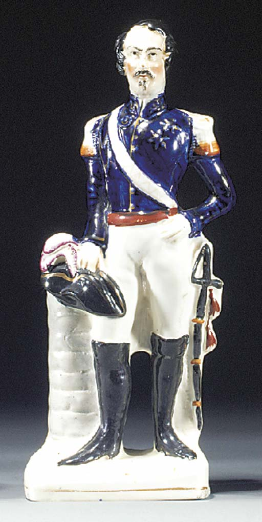 A figure of Napoleon III