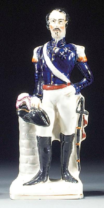 A figure of Napoleon III