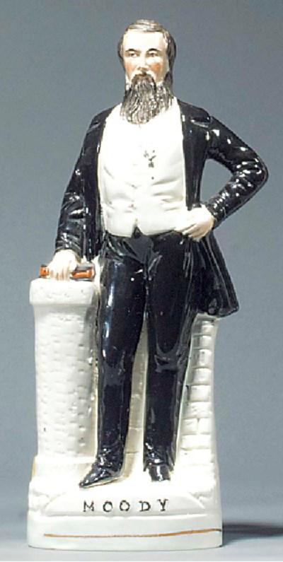 A figure of Dwight Lynam Moody