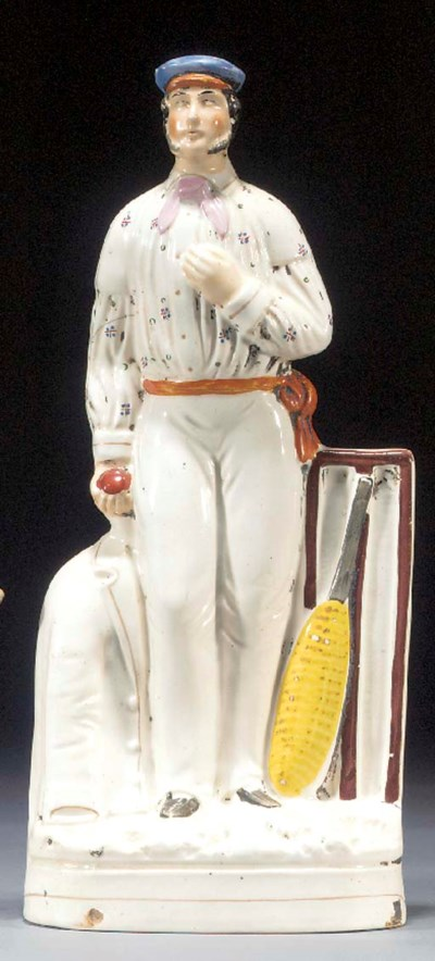 A figure of a cricketer