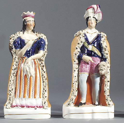 A pair of figures of John Phil