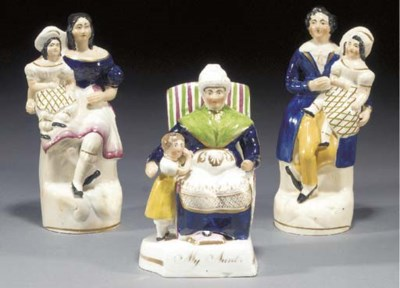 A porcelaineous group of 'My A