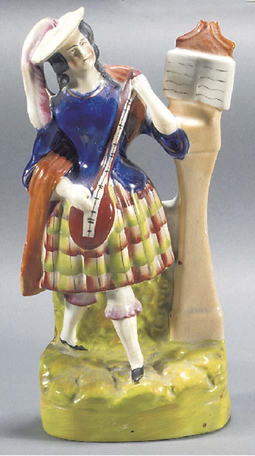 A figure of a female musician