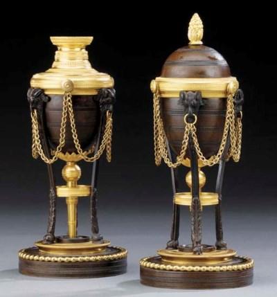 A pair of Regency ormolu and b
