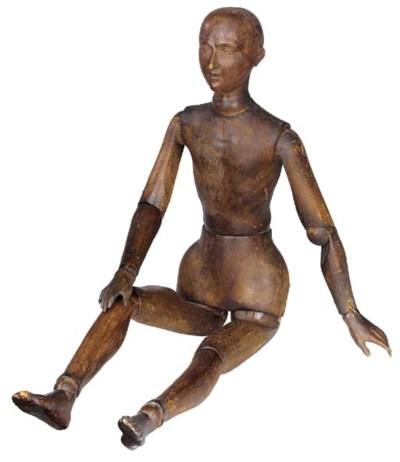 A Pine artists lay figure, lat