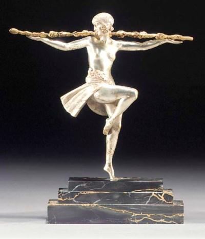 'DANCER WITH THYRSUS', A GILT