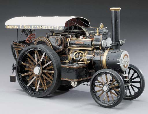 An unusual 1in. scale display model of the Fowler two cylinder Compound Road locomotive Reg. No. NE2834 'Talisman',