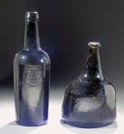 A mallet-shaped wine-bottle an