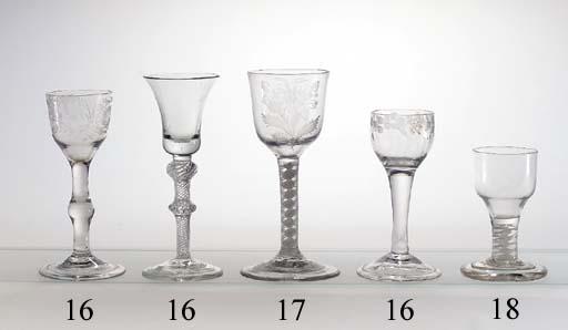 Three wine-glasses