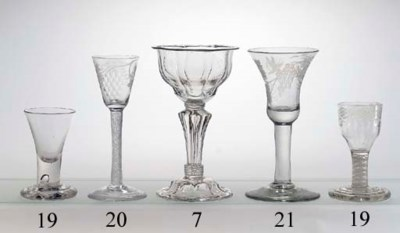 An engraved airtwist wine-glas
