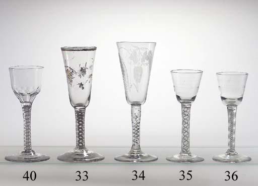 An opaque-twist wine-glass