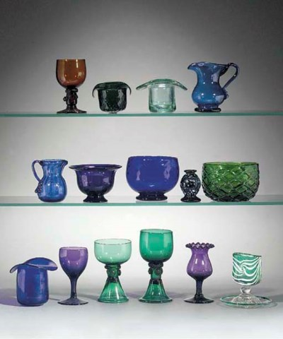 A collection of coloured glass