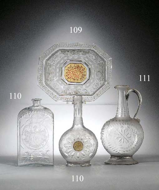 A Silesian engraved wine glass