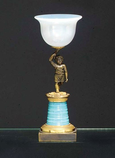 An opaline bronze and gilt-met