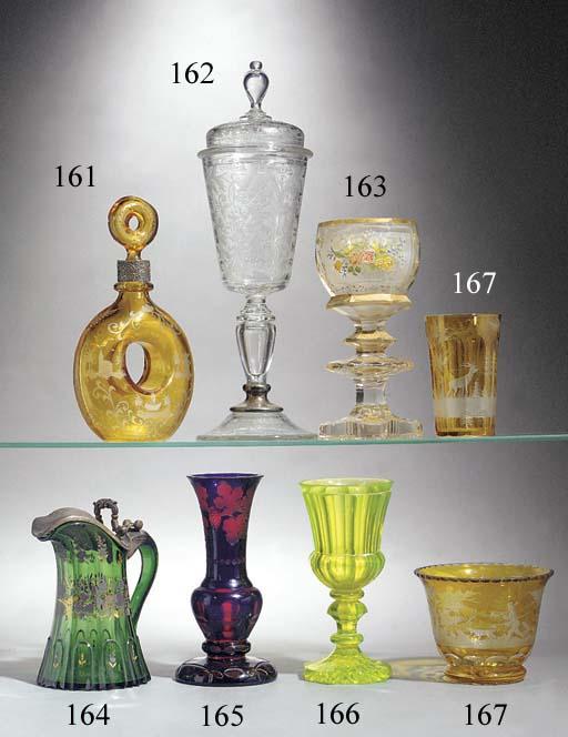 A Bohemian 'annagrun' goblet